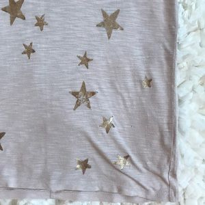 Michael Stars Tops - Michael Stars Metallic Star T-Shirt
